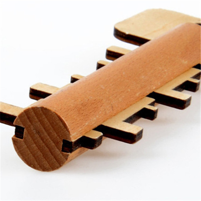 Key Unlock Puzzle Educational Wooden Toy