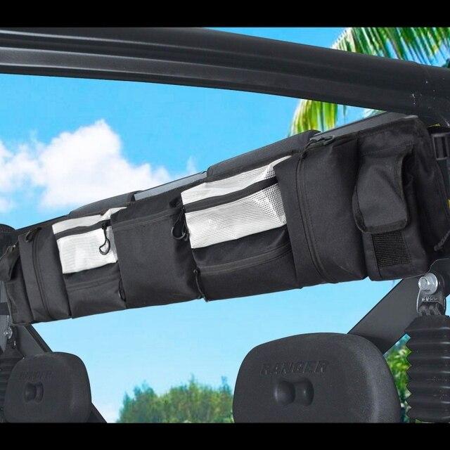 Preto Fácil de Instalar Acessórios ATV UTV Grande Gaiola de Rolo Organizador Clássico Saco Acessórios Ao Ar Livre De Carga De Armazenamento de Munição