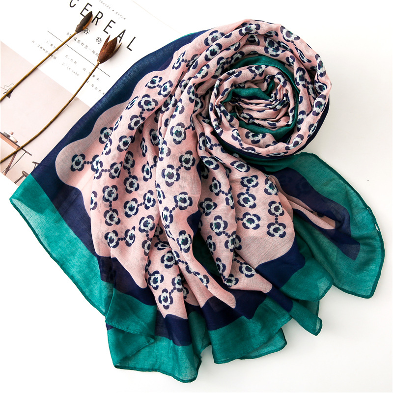 2019 New Fashion Small Flower Print   Scarves   And Shawl Women Floral Print Muslim   Scarf     Wrap   Hijab Muffler 10Pcs/LOT Wholesale