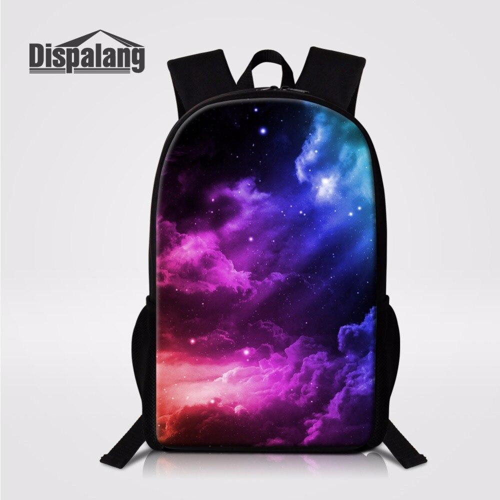 Galaxy Fox Shark Boys School Bag Girls Backpack Lunch Bag Unisex Laptop Rucksack