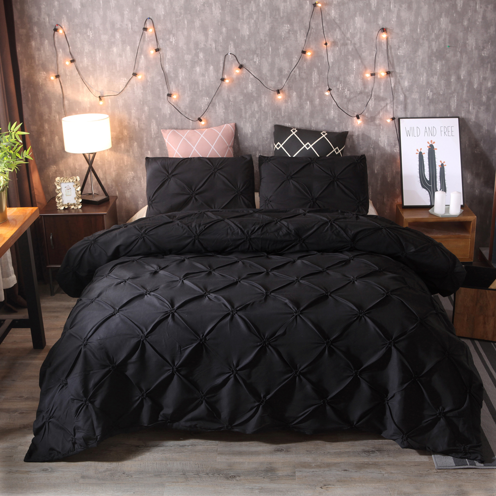 WAZIR Solid color luxury bedding set Duvet Cover Bed Sheet Pillowcases bed linen Home textile bedclothes comforter bedding sets in Bedding Sets from Home Garden