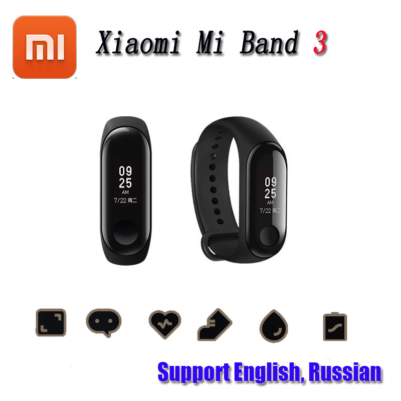 Lovely 2018 New Xiaomi Mi Band 3 Smart Wristband Bracelet Band 3 Oled 128 X 80 Touch Screen Battery 110mah Pulse Heart Rate Step Time