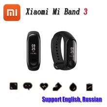 2018 New Xiaomi Mi Band Three Good Wristband Bracelet Band Three OLED 128 x 80 Contact Display screen battery 110mAh Pulse Coronary heart Fee Step Time