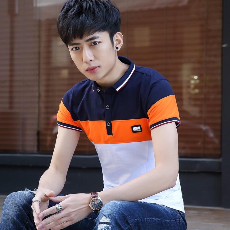2018 Hohe Qualität Sommer Polo Shirt Männer Kurzarm Koreanische Mode Lässig Designer Gestreifte Männer Slim Fit Camisa Plus Größe 2209