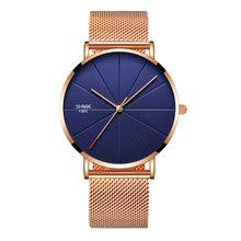 Fashion Men's Quartz Watches Top Luxury Brand Stainless steel Mesh Watch Man Casual Unisex Sport Watch Clock Relogio