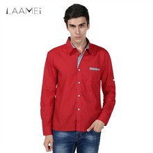 Laamei Fashion Plus Size Casual Shirts Men Summer Long Sleeve Shirts Turn-Down Collar Dress Shirts Men 4XL Chemise Social Shirt(China)