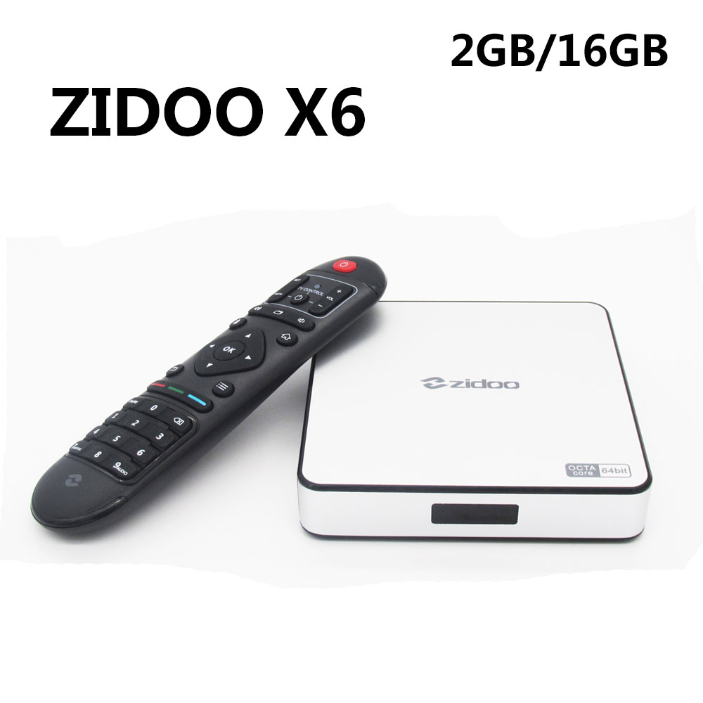Genuine ZIDOO X6 Pro Android 5.1 Lollipop TV Box RK3368 Octa Core Cortex-A53 2G/16G 1000M LAN Dual WIFI KODI 3D zidoo x6 pro android 5 1 lollipop octa core tv box rk3368 2gb 16gb 1000m lan dual band wif bt4 0 4k 2k h 265 kodi 3d