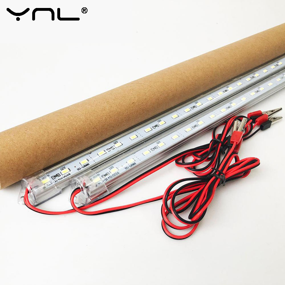 YNL LED Tube Lamp 12V SMD 5730 Plastic Fluorescent Light Tube High Brightness 50cm LED Wall Lamp Cold White
