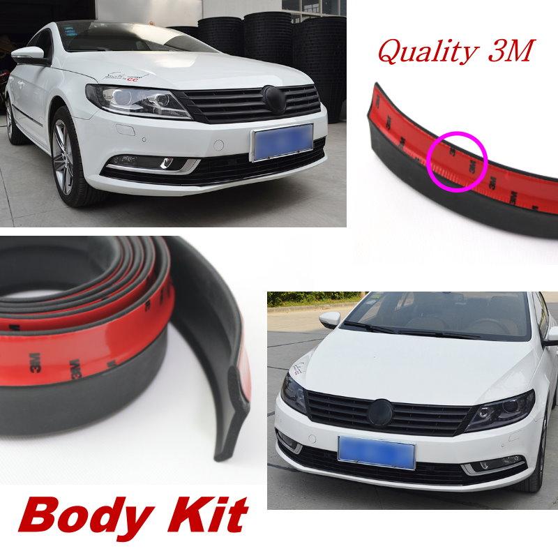 Car Front Lip Deflector Skirt For Volkswag Golf 6 GTI Scirocco Passat B6 Jetta MK4 MK5 MK6 POLO Spoiler Lip For Car Surround