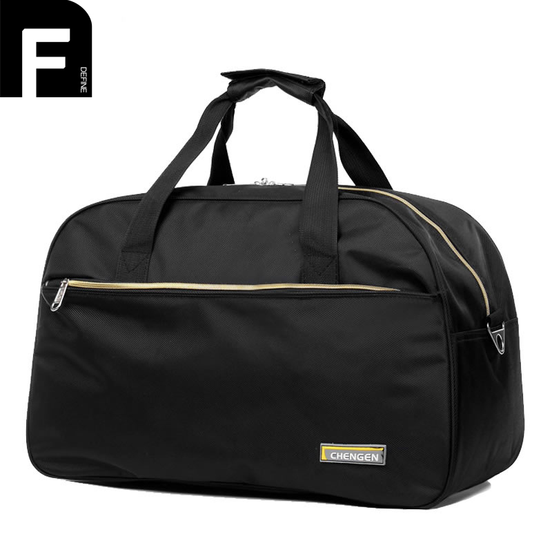 Waterproof Polyester Short Trip Travel Bags Women Duffel Totes Large Capacity Men Solid Weekend Bag Travel Luggage Package Bag