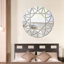 Geometric Round Mirror Sticker 3D DIY Creative Acrylic Wall Stickers For Bedroom Living Room Art Decal Home Decor