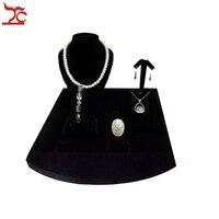 Small Pendant Earring Holder Jewelry Showcase Display Rack Black Velvet Necklace Holder Ring Bracelet Pendant Stud Earring Stand