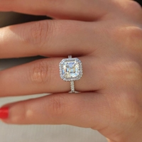 We have a lot of styles that we like to customize. 1 5 Carat ct Wedding Moissanite Diamond Ring Genuine 18K Gold