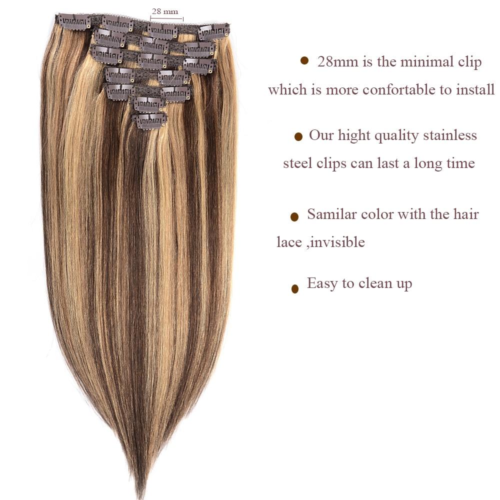 Doreen Mix Color P427 Clip In Human Hair Extensions 70g 7pcs