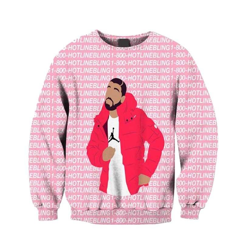 DRAKE Tear Hotline Bling Music Men Women Unisex Top Hoodie Sweatshirt 105E