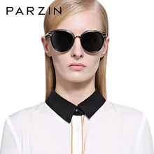 PARZIN Vintage Sunglasses mujeres HD Polarized gafas de sol mujer gafas UV  400 señoras sombras gafas negro 9867 1ab703375d16