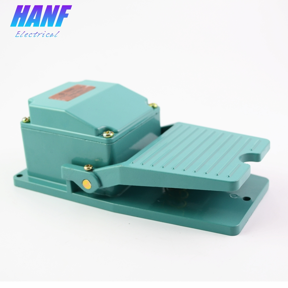 1pcs Foot Switch Aluminium Alloy Momentary Contact Antislip Pedal Industrial Foot Pedal switch AC 250V 15A