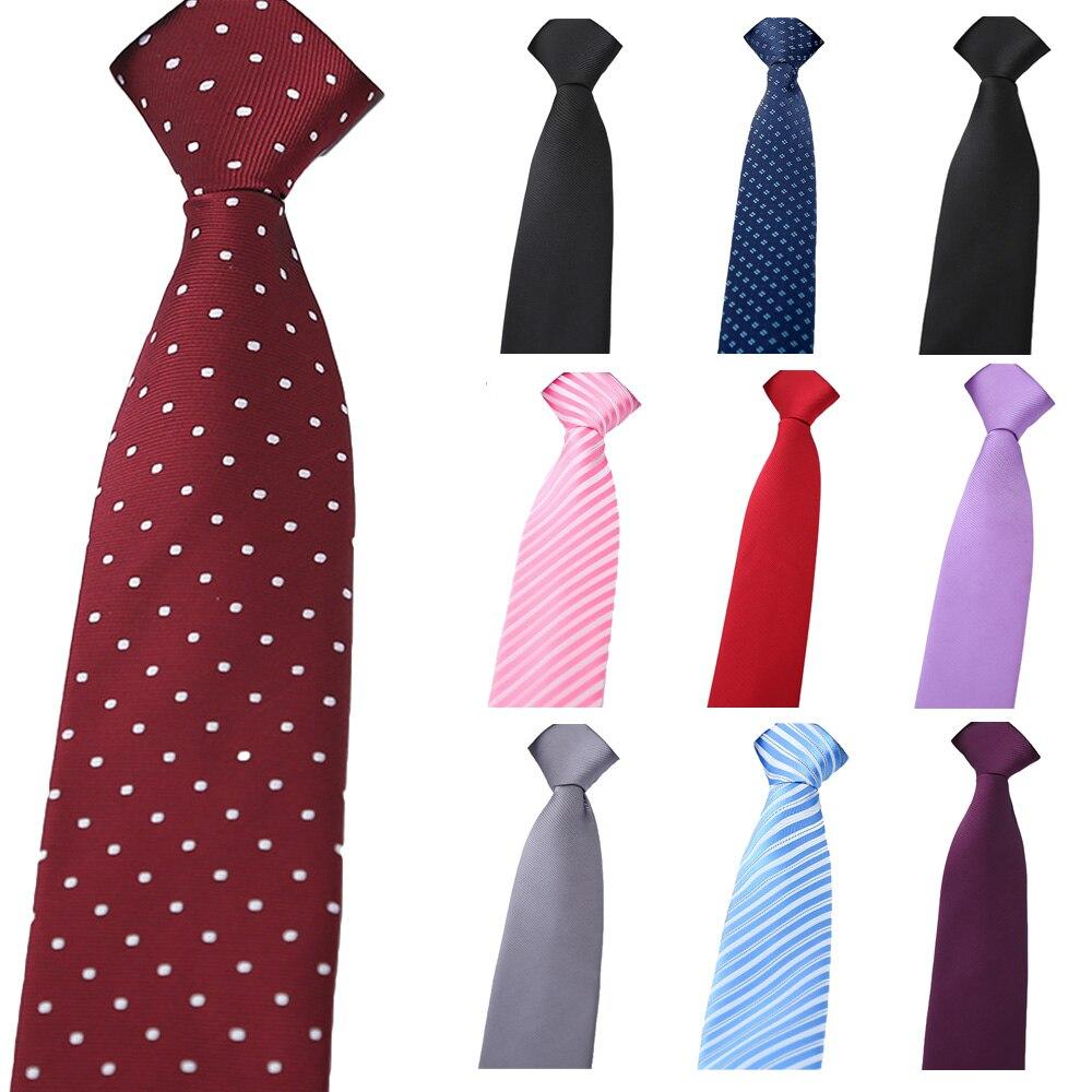 Men Classic Striped Polka Dots Floral Zipper Necktie Wedding Party Pre-tied Tie BWTXN0001