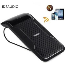 New! Wireless Black Bluetooth Handsfree Car Kit Speakerphone Sun Visor Clip 10m Distance For iPhone Smartphones with Car Charger