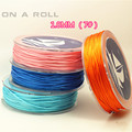 1mm Soft Satin Rattail Silk Macrame Cord DIY Chinese Knot Bracelet Necklace Jewelry Finding 20/roll