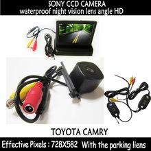 Беспроводная камера заднего вида 170 градусов объектив HD Sony CCD Резервное копирование камера + 4.3 дюймов ЖК-дисплей мини заднего вида автомобиля Мониторы для toyota Camry 2008