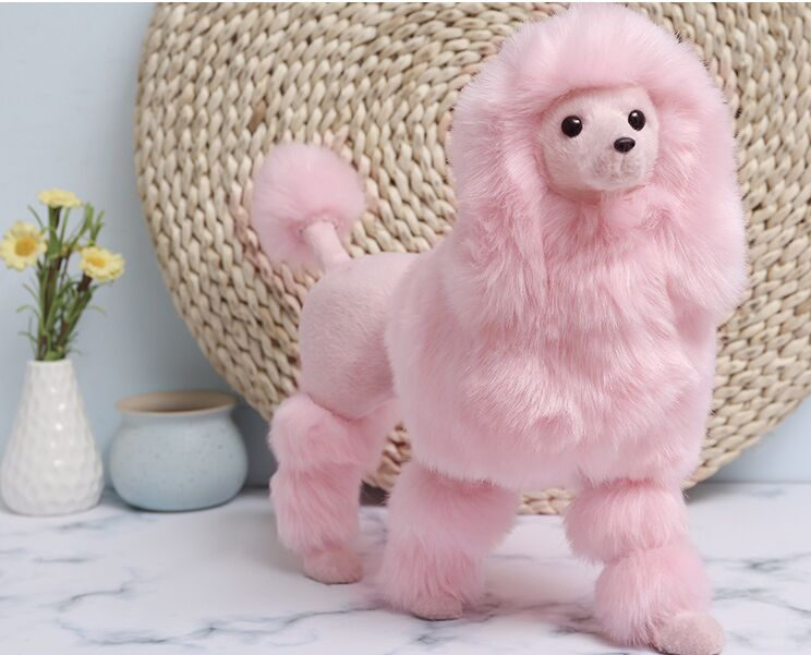simulation poodle plastic&fur pink poodle toy model large 37x26cm prop home decoration toy gift w0144simulation poodle plastic&fur pink poodle toy model large 37x26cm prop home decoration toy gift w0144