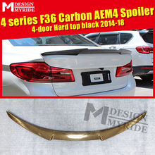 For BMW F36 4 Series Gran Coupe 4-Door Carbon Fiber Rear Trunk Spoiler Wing Add on Style M4 Look 420i 428i 430i 435i 440i 13-18
