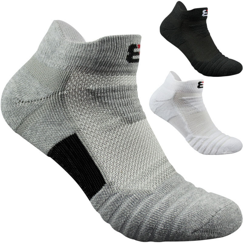 LKWDer 3 Pairs Men's Socks Thick High Quality Mens Socks Thermal Towel Bottom Foot Wear Terry Combed Cotton Men Ankle Sock Meias
