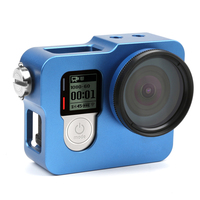 Gopro Hero 4 Accessories Protective With 37mm UV Filter Case Cover Aluminium Housing Shell Lens Cover
