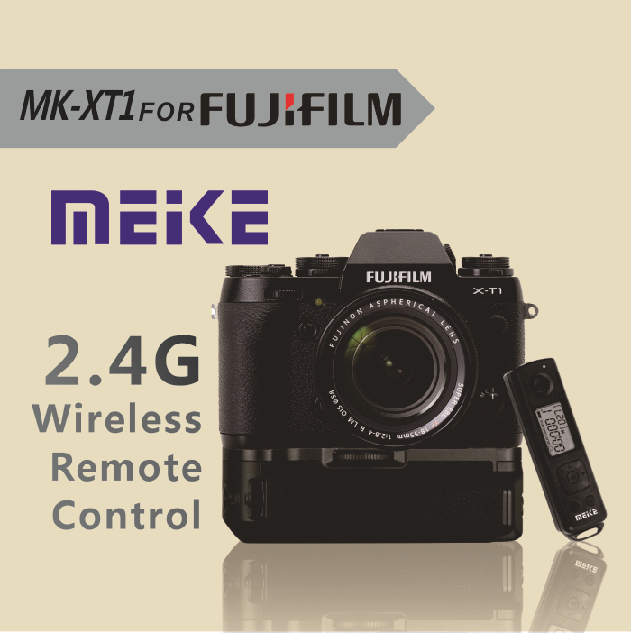 2015 New Arrival Meike MK-XT1 Pro 2.4G wireless Remote Control Battery Grip for Fujifilm XT1 meike mk a6300 pro remote control battery grip 2 4g wireless remote control for sony a6300 ilce a6300 np fw50