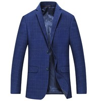 Spring New Style Business Blazers Jacket Men's Business Blue Suit Jacket High Quality Fashion Single Breasted Blazer Men