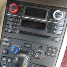 Барбекю @ FUKA 4 шт салона Acc Air Кнопка кондиционера аудио Управление ручки кольцо для Volvo XC90 2009-2014 автоаксессуары Стайлинг
