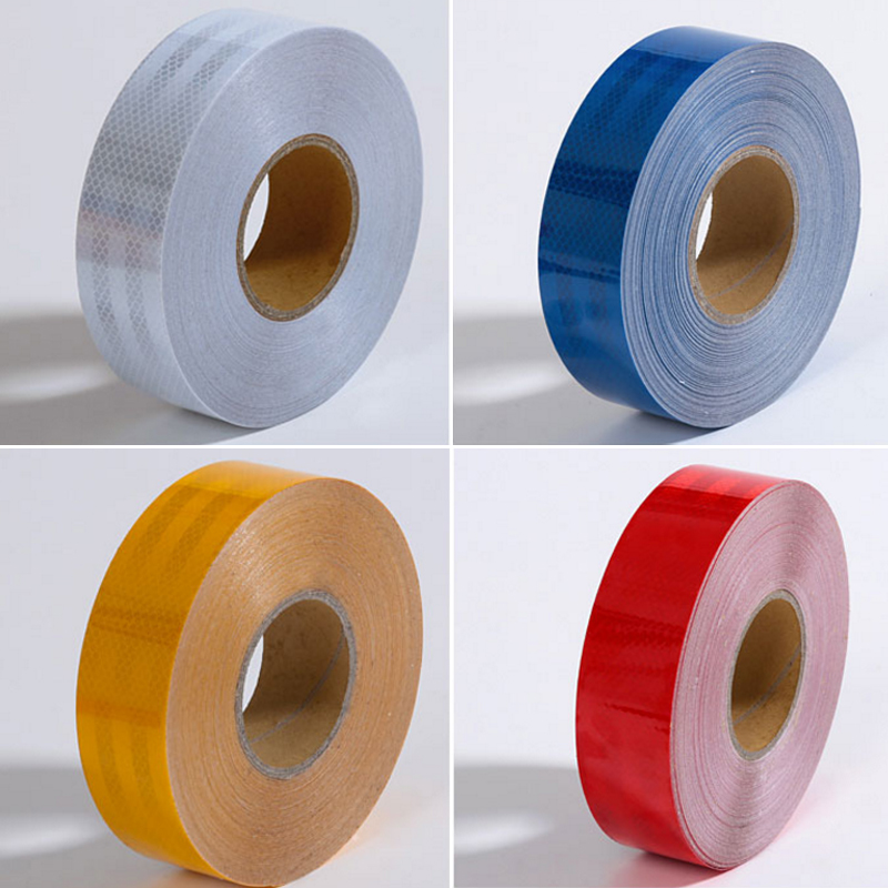 50mm X 30m  Reflective Strips Car Stickers Car-styling Motorcycle Decoration Automobiles Safety Warning Mark Tape