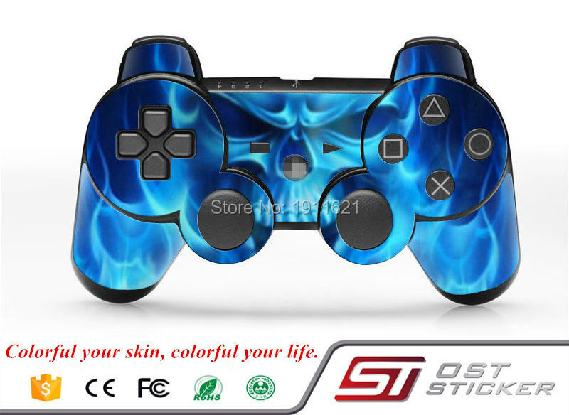 cheap Vinyl Skin Sticker Cover Decal For PS3 PlayStation Slim controller