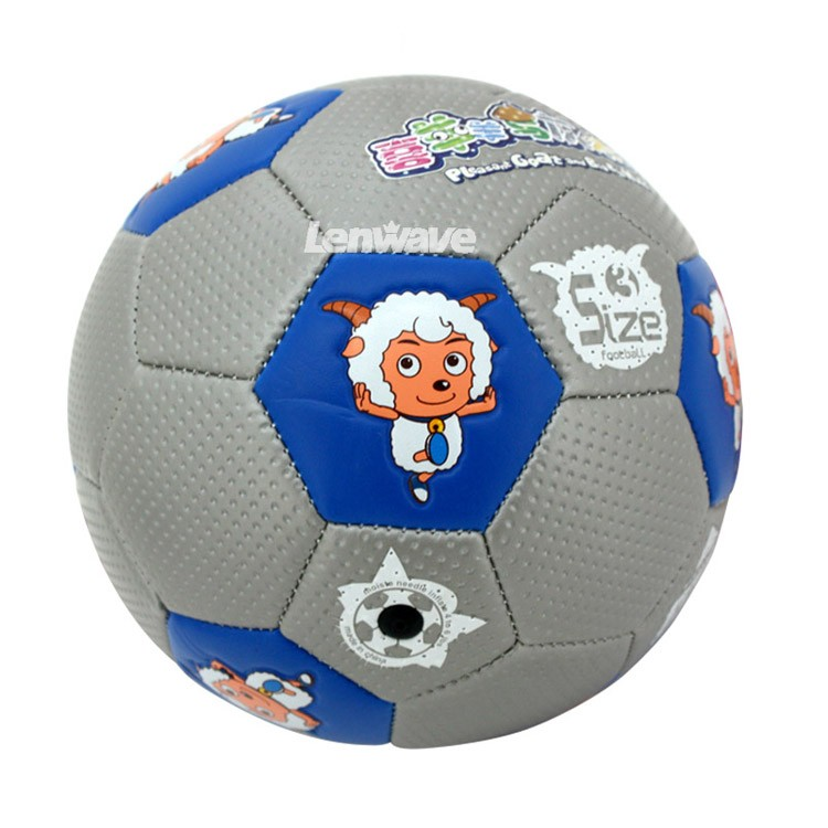 P2016 New Children's Size 3 PU Football Ball Plesant Goat and Big Big Wolf Kids Sports Training Soccer Ball