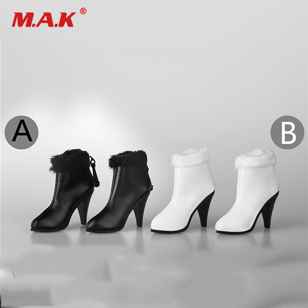 Black High-heel Shoes Long Boots For 1//6th Female Phicen HT Figure Doll Toy