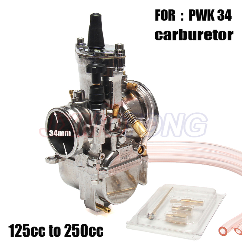 где купить Universal Motorcycle 34mm Carburetor For Carb PWK34 Mikuni With Power Jet дешево