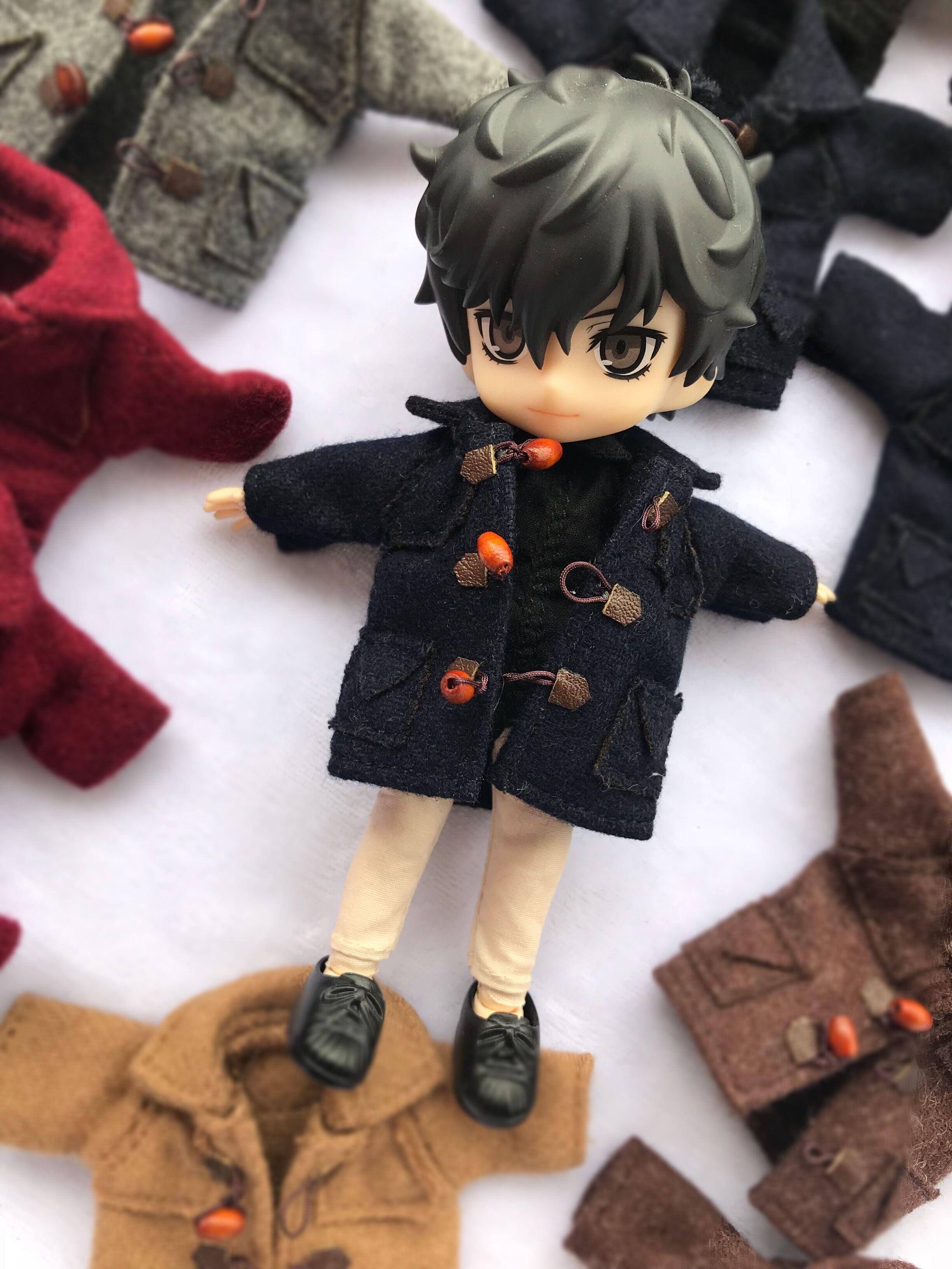 Manteau de boucle de corne de style britannique pour Obitsu11 OB11 1/12 poupée OB11 poupée cgc molly disponible pour cu-poche OB11 accessoires poupée