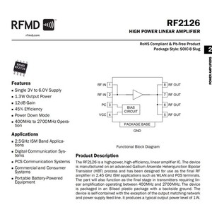 Image 5 - Lusya RF2126 2.4GHZ פס רחב RF כוח מגבר 400 M 2700 MHZ 1W עבור WIFI Bluetooth רדיו חם מגבר G2 004
