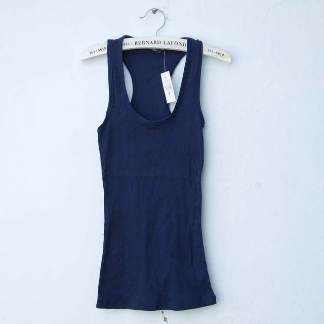 Fashion bluenots 100% cotton elastic slim small vest spaghetti strap tank 50