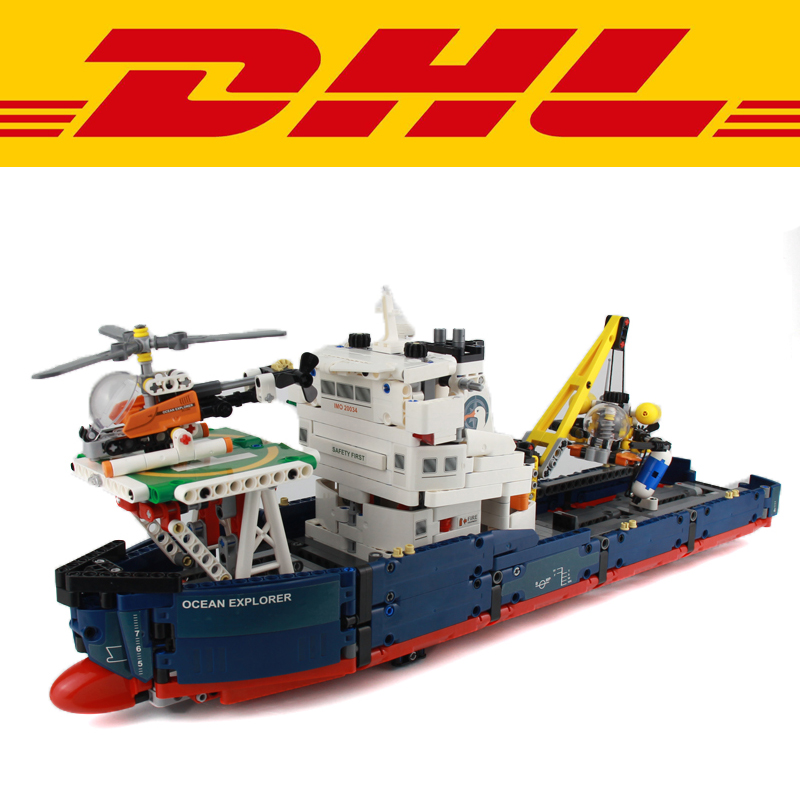 2017 New LEPIN 1347Pcs Technic Ocean Explorer Model Building Kits Blocks Bricks Children Toys For Compatible With Gift 42064