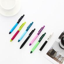 42 pcs/Lot Contrast color gel pen 0.5mm ballpen Black pens Kawaii stationery Office  School supplies Canetas escolar FB184