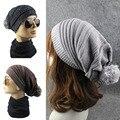 2017 Love Couple Ball Baggy Crochet Cap Winter Hat Warm Knitted Slouch Women & Men Beret Beanie Hats bonnet femme Caps gorros W5