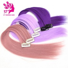 "Dream ice's 10pcs/lot Clip-in One Piece for Ombre Hair Extensions 16""40cm Pure Color Straight Long Synthetic Hair(China)"