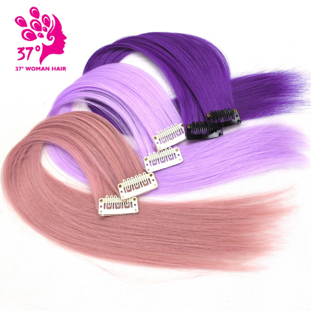 Dream Diana 10pcs/lot Clip-in One Piece for Ombre Hair Extensions 1640cm Pure Color Straight Long Synthetic