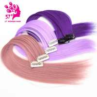 """Dream ice's 10pcs/lot Clip-in One Piece hair extensions rain bow Hair pieces 16""""40cm Pure Color Straight Long Synthetic Hair"""