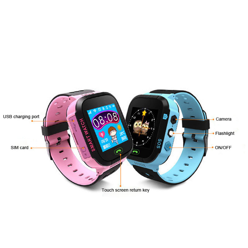Children Anti-Lost GPS Smart Watch Kids SOS Call Location Wristwatch Students Safe Guard Watches @JH