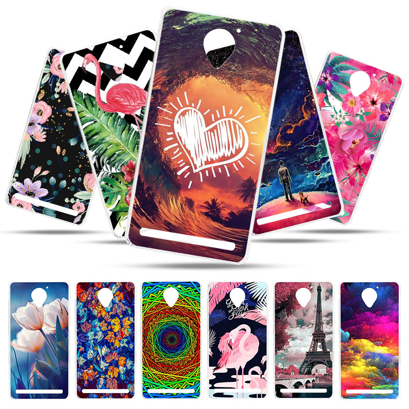 Bolomboy Painted Case For Lenovo Vibe C2 Case Silicone Soft TPU Cases For Lenovo C2 Power K10a40 Cover Wildflowers Animal Bags