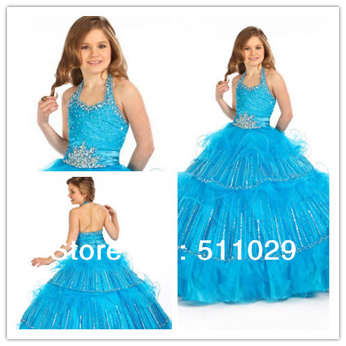 5ae0345cb9a2c9 FREE SHIPPING FG-039 Fancy tiered sparkly ball gown kids plus size wedding  dresses for kids