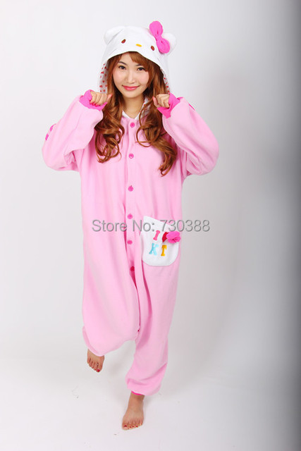 Aliexpress.com : Buy Anime Pink Hello Kitty Cat Adult Cosplay ...